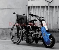 best quality promotional 36v 400w portable electric wheelchair handbike drive head for disabled people