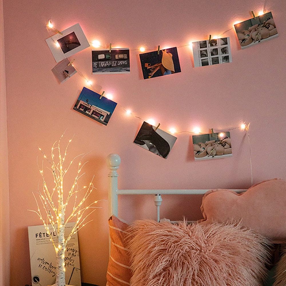 photo clips led string lights 1m 2m 5m 10m usb fairy garland lights battery powered light for christmas wedding party decoration 2m 5m 10m Led garland photo clip string lights fairy light powered by battery USB wedding party holiday lighting home decoration