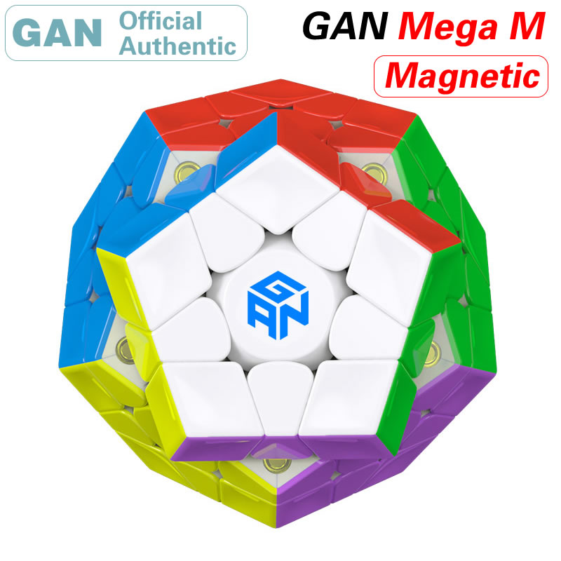 GAN Magnetic 3x3x3 Megaminxeds Magic Cube 3x3 Dodecahedron Magnet Mega M Professional Speed Puzzle Educational Toys For Kid