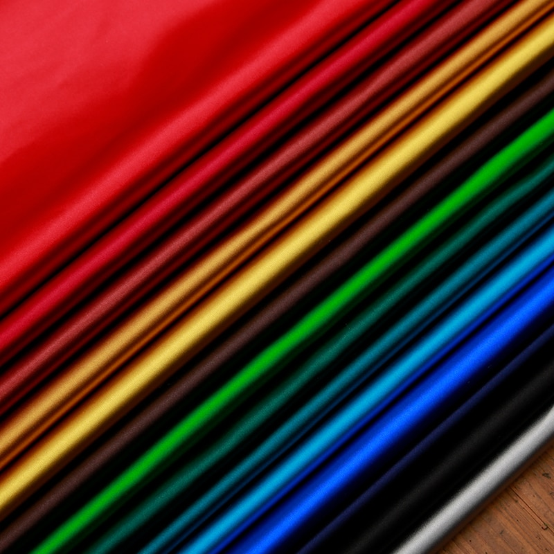 Satin Imitation Silk  fabric brocade solid plain for sewing rayon material fabrics