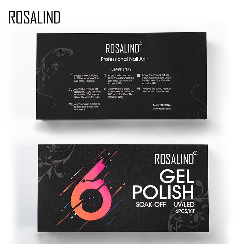 ROSALIND Gel Nail Polish 15ml Manicure Set For Nail art sticker decoration Nail gel polsih Need Base top Coat Varnishes lacquer