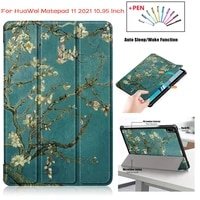 pattern flip fundas auto sleep tablet case for huawei mate pad matepad 11 2021 10 95 cover coque pu leather stand hard pc shell