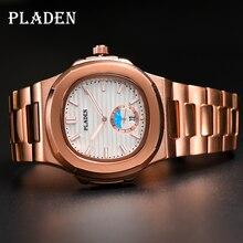 PLADEN Brand Men Watches Quartz Full Stainless Steel 30M Waterproof Watch Men Rose Gold Luxury Busin
