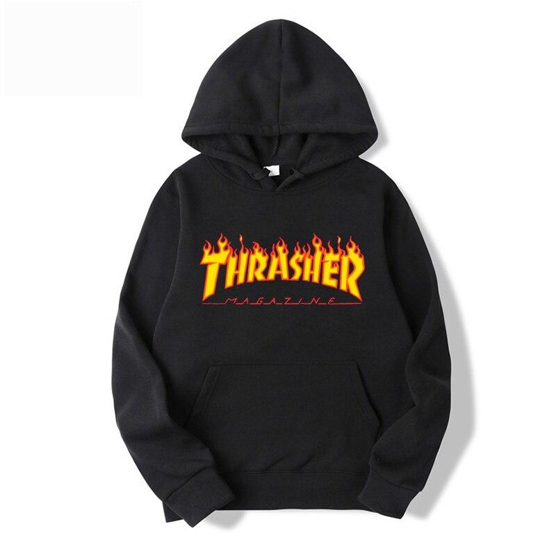 Thrasher-разноцветная толстовка с рисунком огня для нейтральной модной брендовой одежды, спортивный костюм с принтом 2021, новая коллекция худи