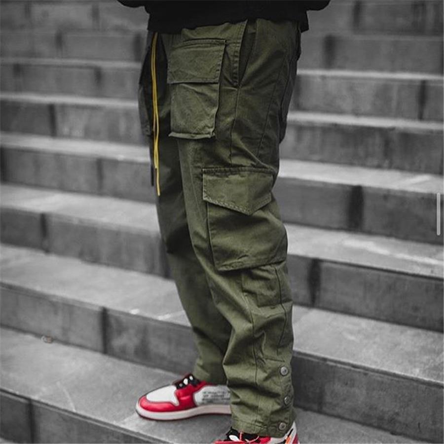Брюки-карго мужские уличная одежда, брендовые штаны для бега в стиле хип-хоп, модные повседневные тренировочные штаны, мужские брюки с засте...