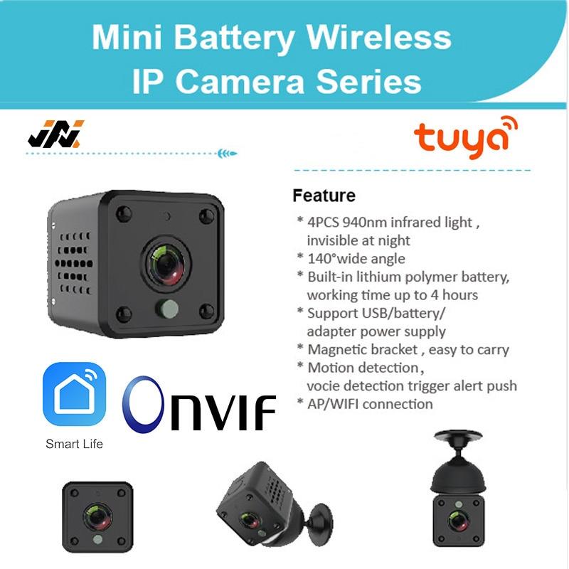 1080P كاميرا صغيرة تويا واي فاي كاميرا صغيرة كاميرات اي بي CCTV الصوت والفيديو كاميرا الفيديو المحمولة USB كاميرا ويب مسجل Onvif بطارية الكاميرا