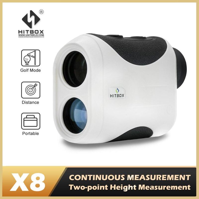 HItbox الليزر للصيد مسح جولف الرياضة 600M 1500M البسيطة Rangefinder أحادي تلسكوب 6X 8X قياس سرعة زاوية