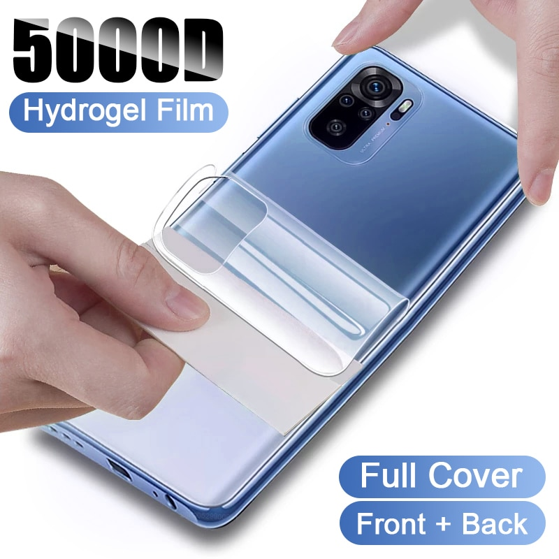 Película de hidrogel de cobertura completa para Xiaomi Redmi Note 10, 10S,...