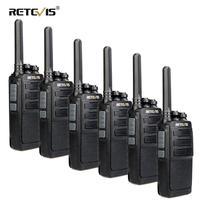6pcs RETEVIS RT28 Walkie Talkie PMR Radio VOX PMR446 Micro USB Charging Portable Mini Two Way Radio Walkie-Talkie Transceiver