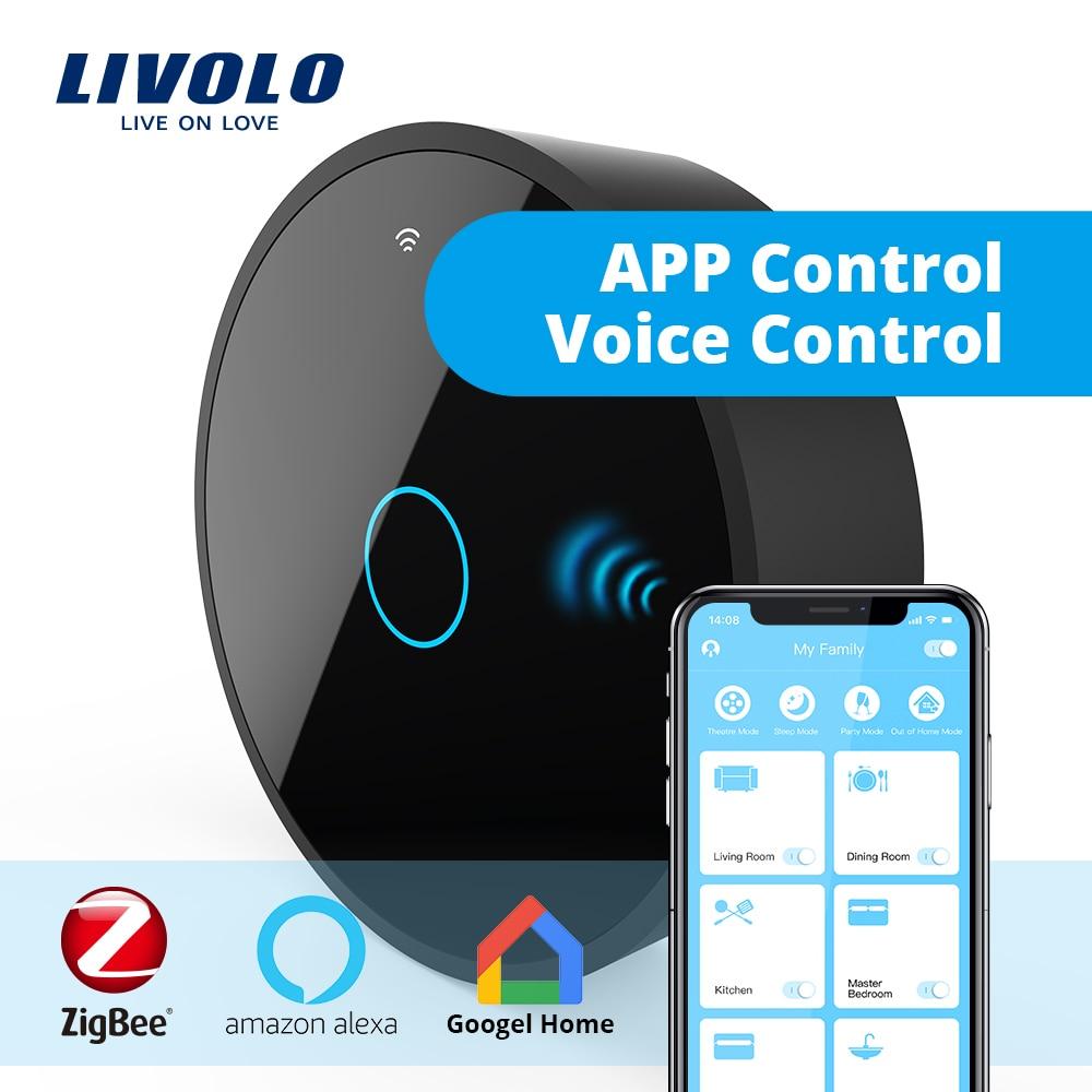 Livolo gateway, casa inteligente controlador sem fio wi-fi por smartphone, casa do google, aleax, eco, trabalhar em parceria para interruptor inteligente