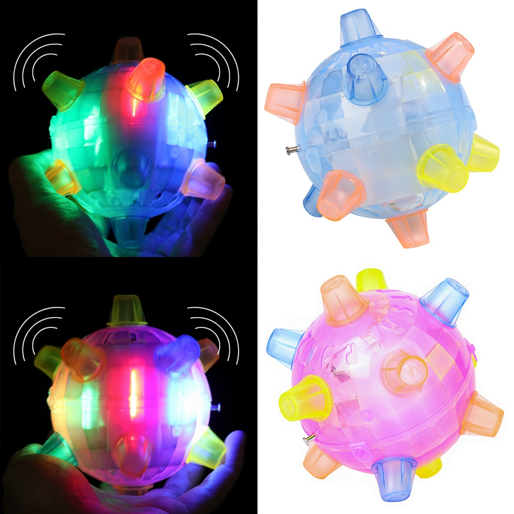 Juguete de pelota de salto con luz LED para chico, música loca, pelota de fútbol que rebota, juguetes vibradores eléctricos coloridos para niños, regalos