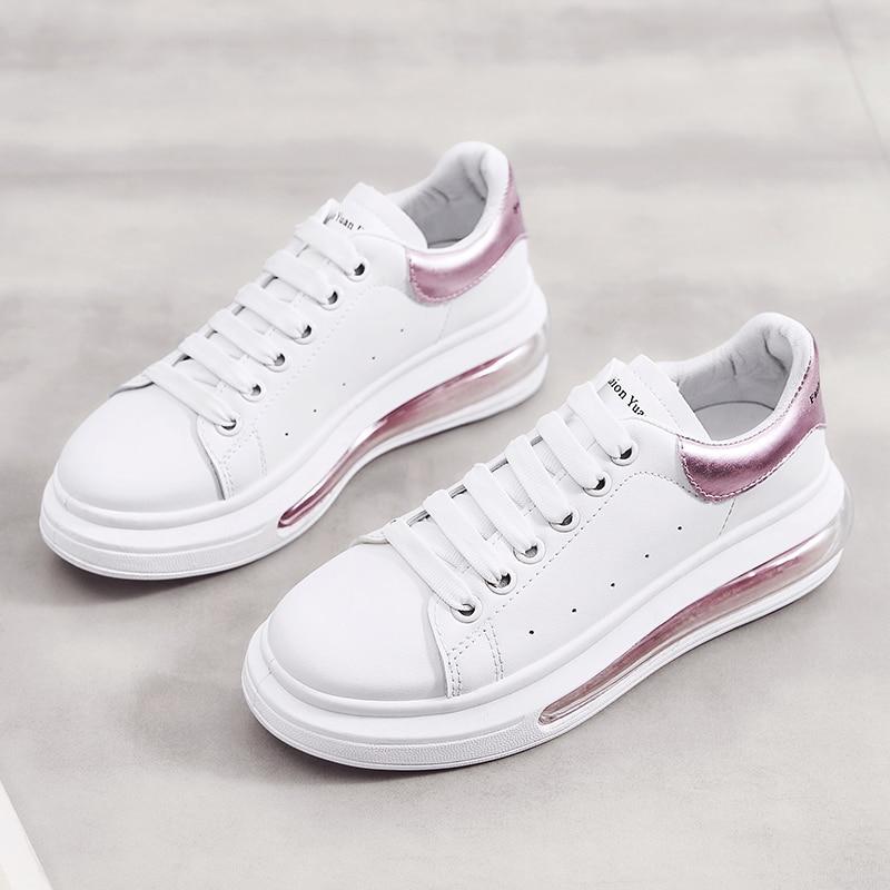 Hot Sale White Women Casual Sneakers Luxury Air Cushion Shoes Girl Summer Women Brand Walking Designer Shoes Female 2020 Comfort
