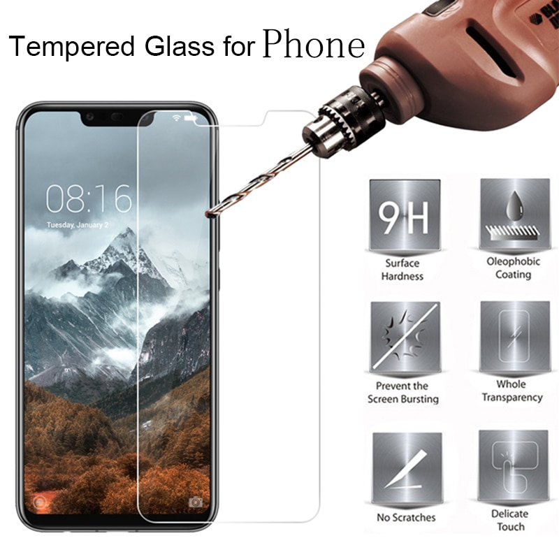 De vidrio templado 9H para Vivo X6 X7 Plus Protector de pantalla para Vivo Y51 Y53 Y55 Y66 V5 Y67 Y69 Y71 Y81 Y93 protectora película de vidrio