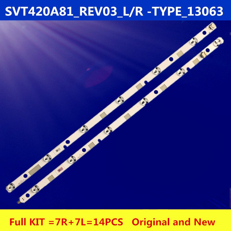 New Kit 14 PCS LED backlight strip for SO NY TV 42L7453D SVT420A81 REV03 R L type 130613 LC420DUK SG K2