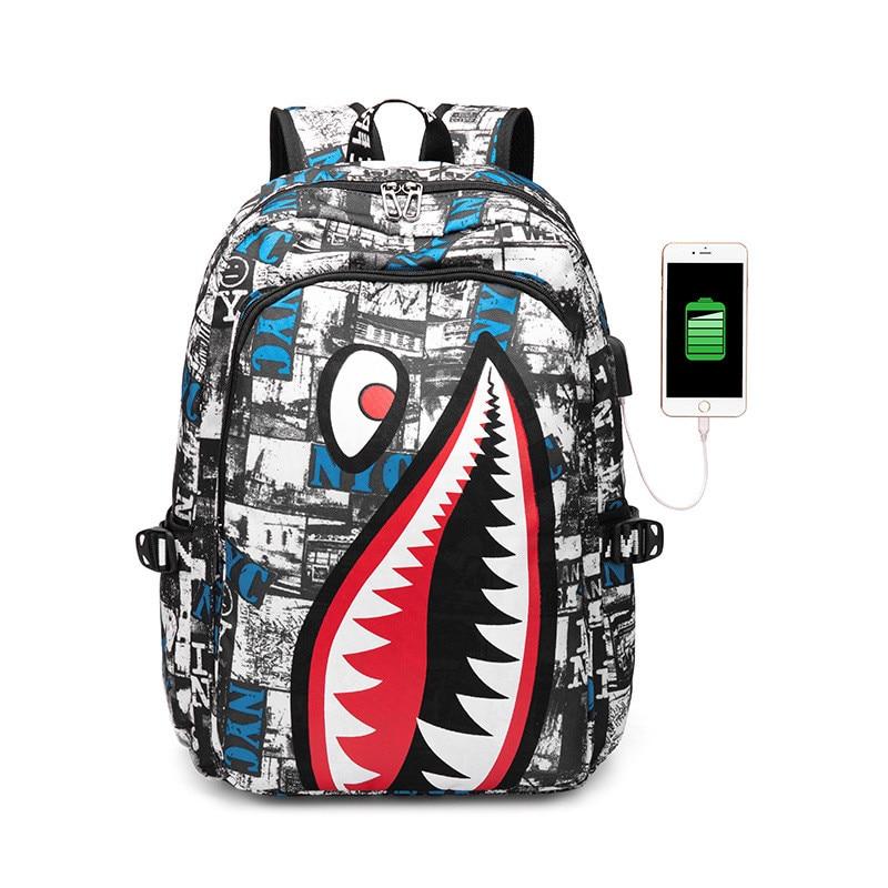 Young Student School Bag Boys Backpacks Waterproof USB Charging Backpack Schoolbag For Teenagers Girl Student Book Bag challenges 1 student book