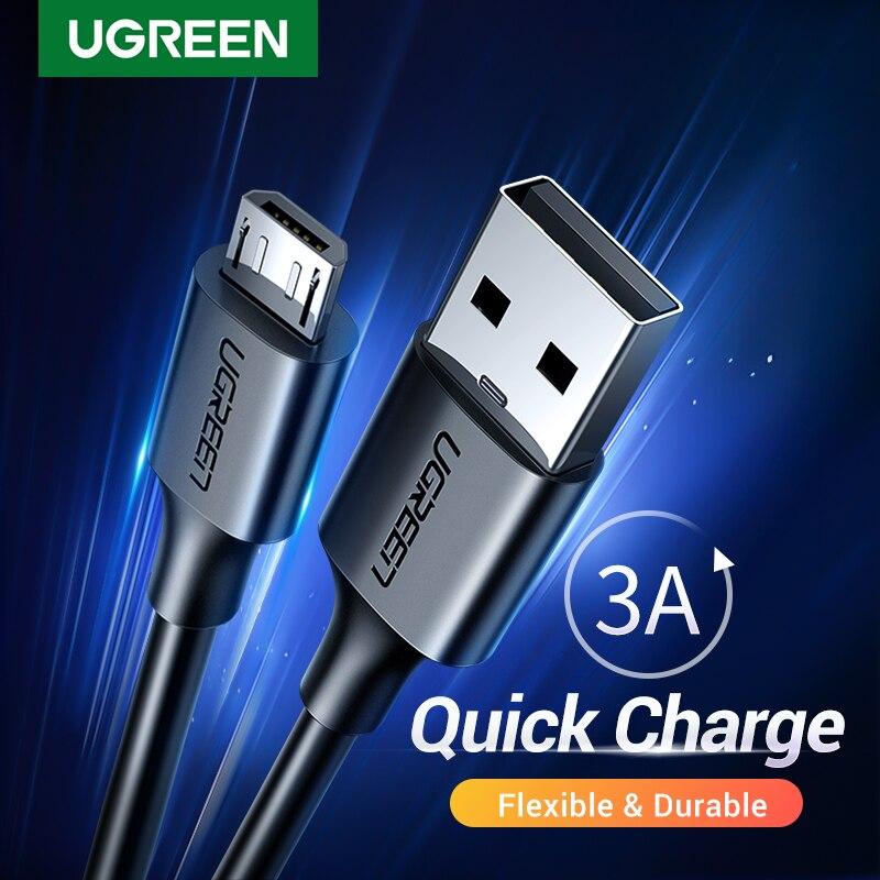 Ugreen-Cable Micro USB de carga rápida 3A, Cable de datos para teléfono...