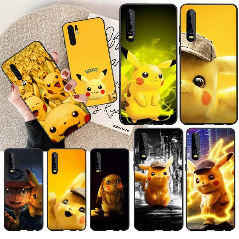 Penghuwan pokemons eevee pika coque diy caso de telefone luxo para huawei p30 p20 p10 p9 p8 mate 20 10 pro lite
