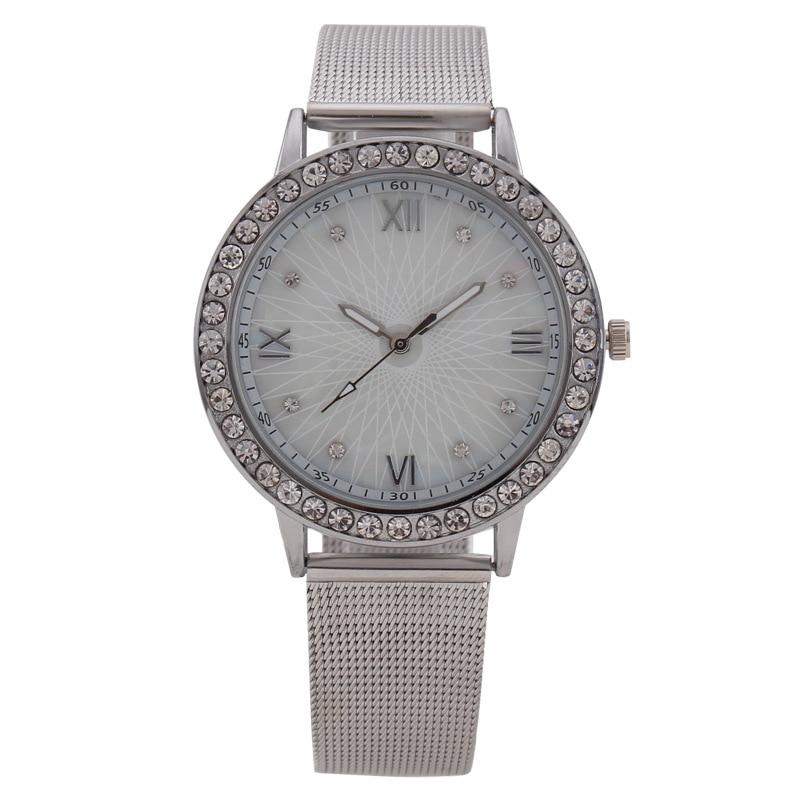 MREURIO 2020 New Arrival Women Watch Fashion Stainless Steel Mesh Band Roman Numeral Diamond-Studded Simple Quartz Wrist Watches enlarge