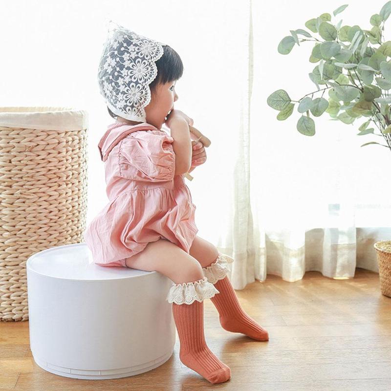 Детские носки Новинка весна-осень цветные кружевные носки детские носки без косточек Нескользящие Детские носки 2021 новый стиль