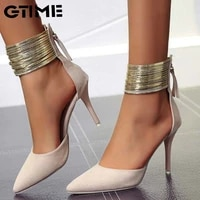 women sandals ankle high thin heels pointed toe lace up party wedding design summer women shoessjpae 198