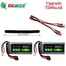Upgrade 7200mAh 7.4V 3600mAh RC Lipo Battery Charger Sets For Wltoys 12428 12423 RC Car feiyue 03 Q3
