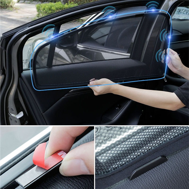 For Toyota RAV4 RAV 4 2020 2019 2021 Accessoriies Car Sunshade Front Rear Window Sunscree Anti-mosquito Netting Decoration
