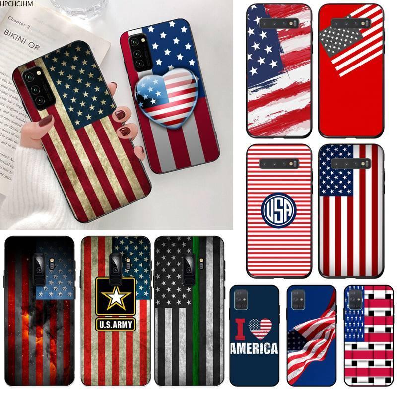 HPCHCJHM Estados Unidos bandera teléfono cubierta para Samsung S20 plus Ultra S7 S6 edge S8 S9 plus S10 5G lite 2020