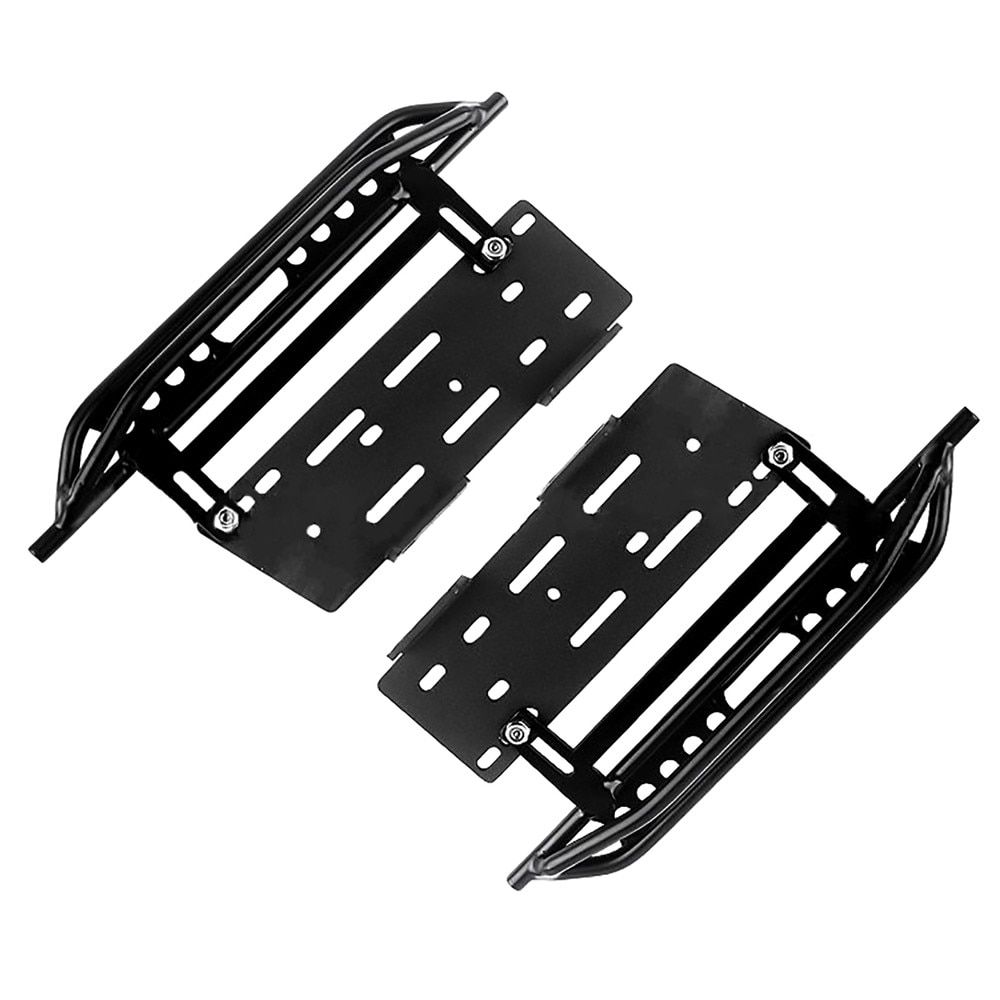 Placa lateral protectora de Pedal lateral de Metal 2 uds para accesorios de coche 1/10 SCX10 90046 RC