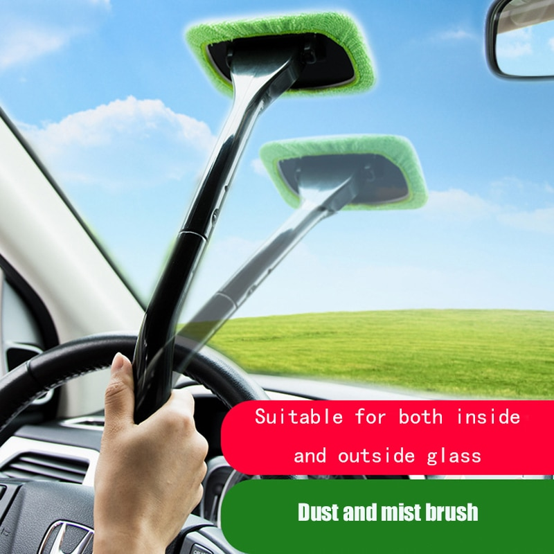 Car Window Cleaner Brush Kit Windshield Wiper Microfiber Wiper Cleaner Cleaning Brush Auto Cleaning Wash Tool With Long Handle