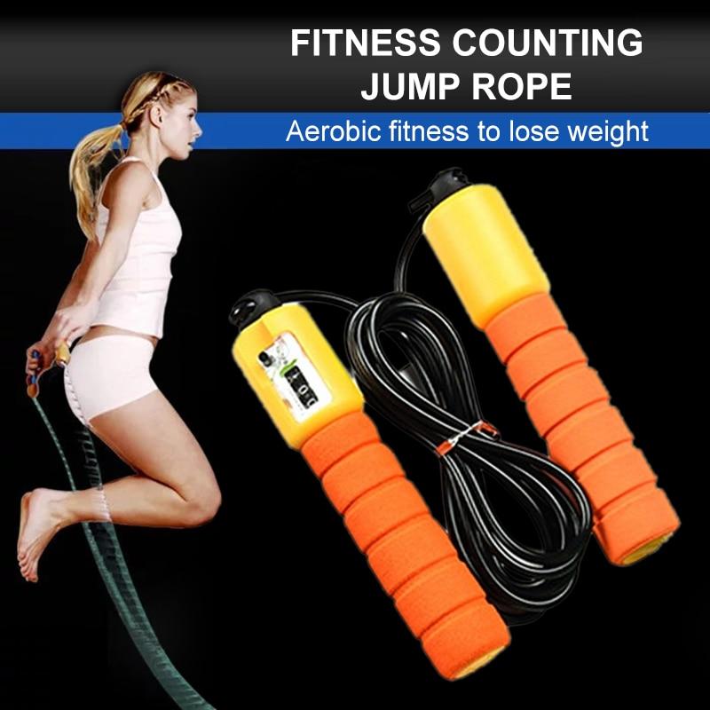 Profesional esponja saltar cuerdas electrónica contar cuerda de saltar para deportes Fitness ajustable velocidad rápida saltar cuerda saltar