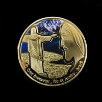 commemorative coin for the statue of jesus christs servant statue commemorative coin for the statue of christ in brazil coins