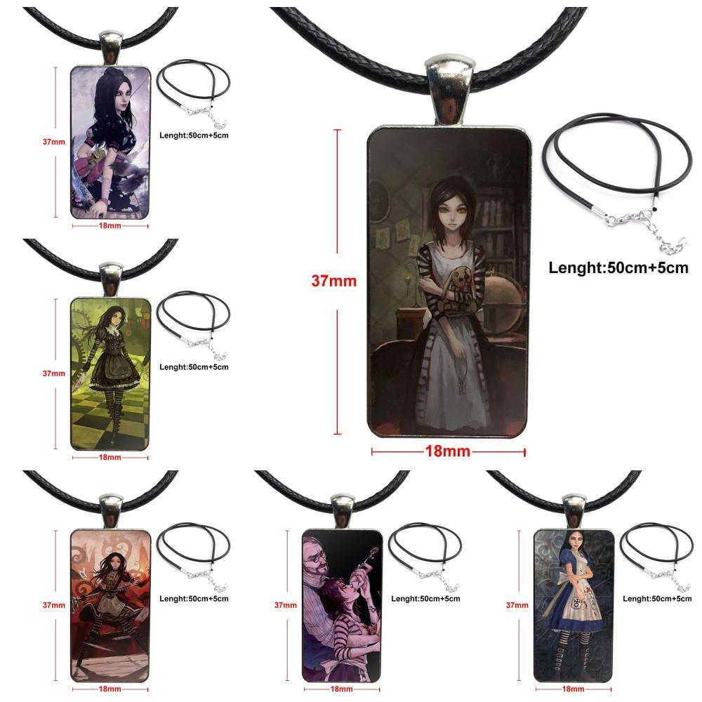 Para la boda Alice Madness devoluciones moda collar hecho a mano rectángulo forma gargantilla collar joyería Multi diseños