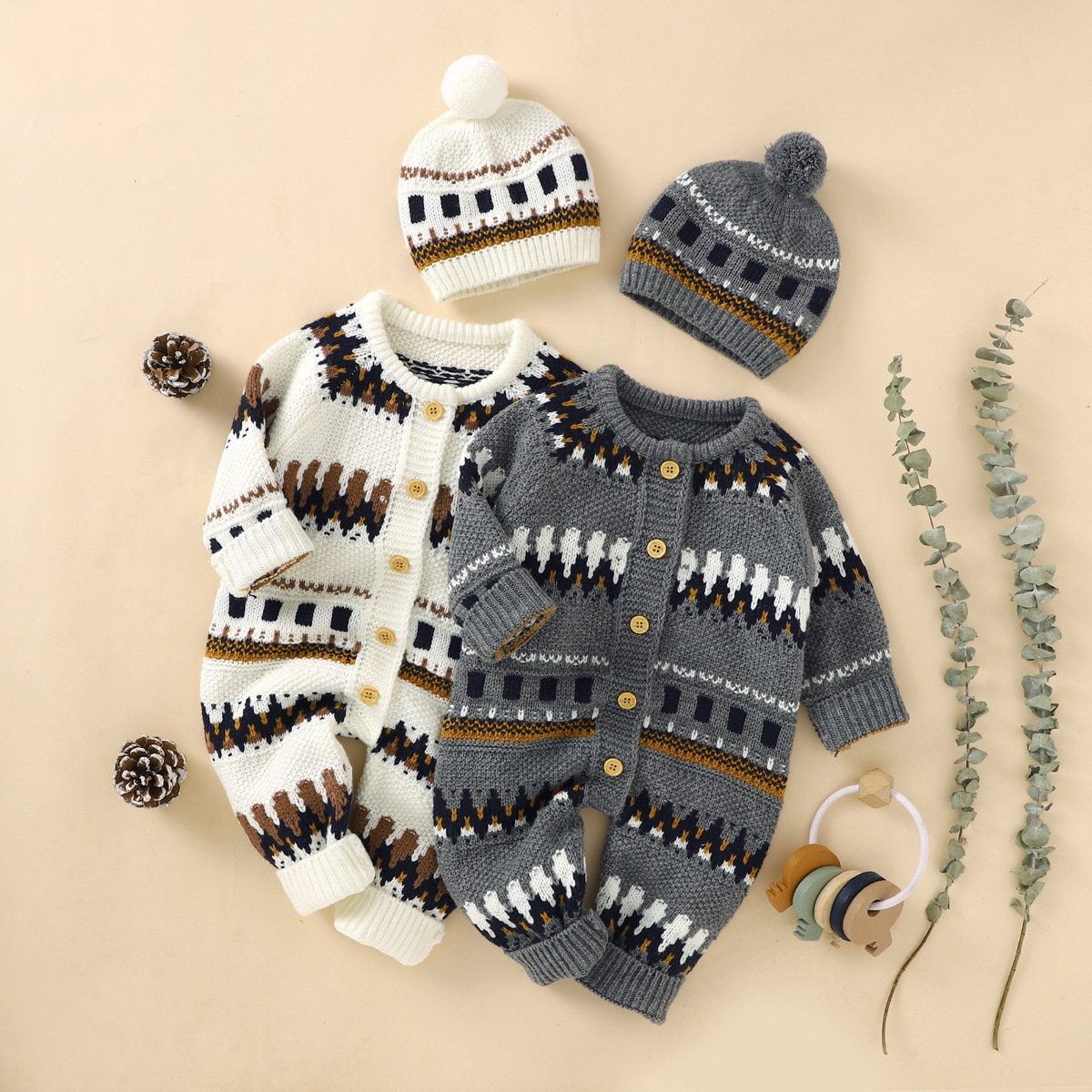 Boys' And Girls' Sweaters Winter Toddlers Baby Clothes Children's Sweaters Cotton Knitted Sweaters 0