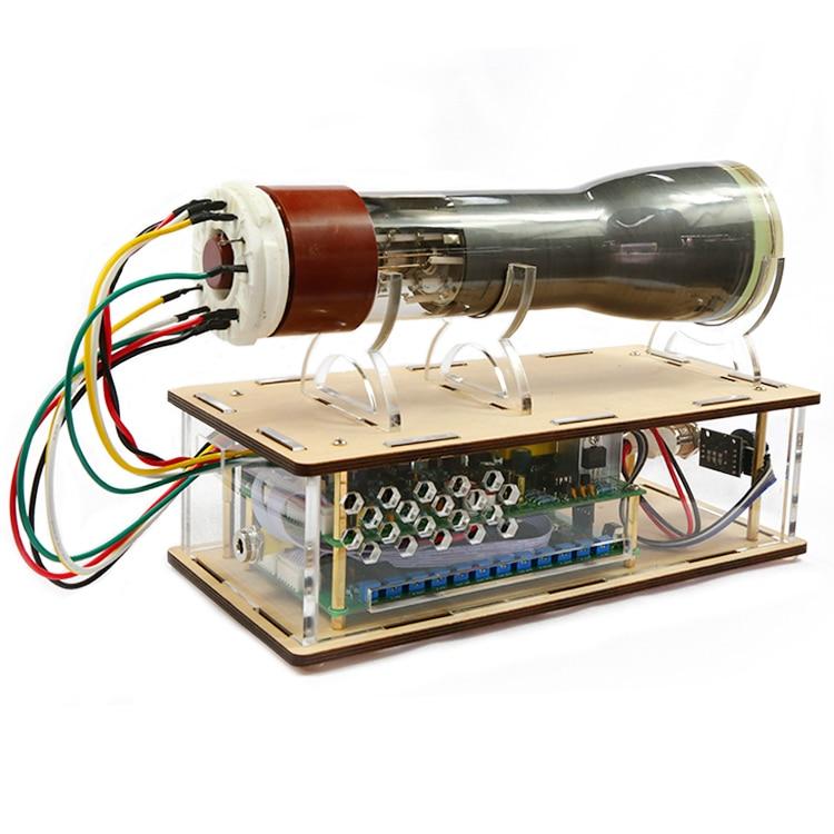 Criativo tubo osciloscópio relógio 8sj31j osciloscópio placa motorista osciloscópio eletrônico diy kit