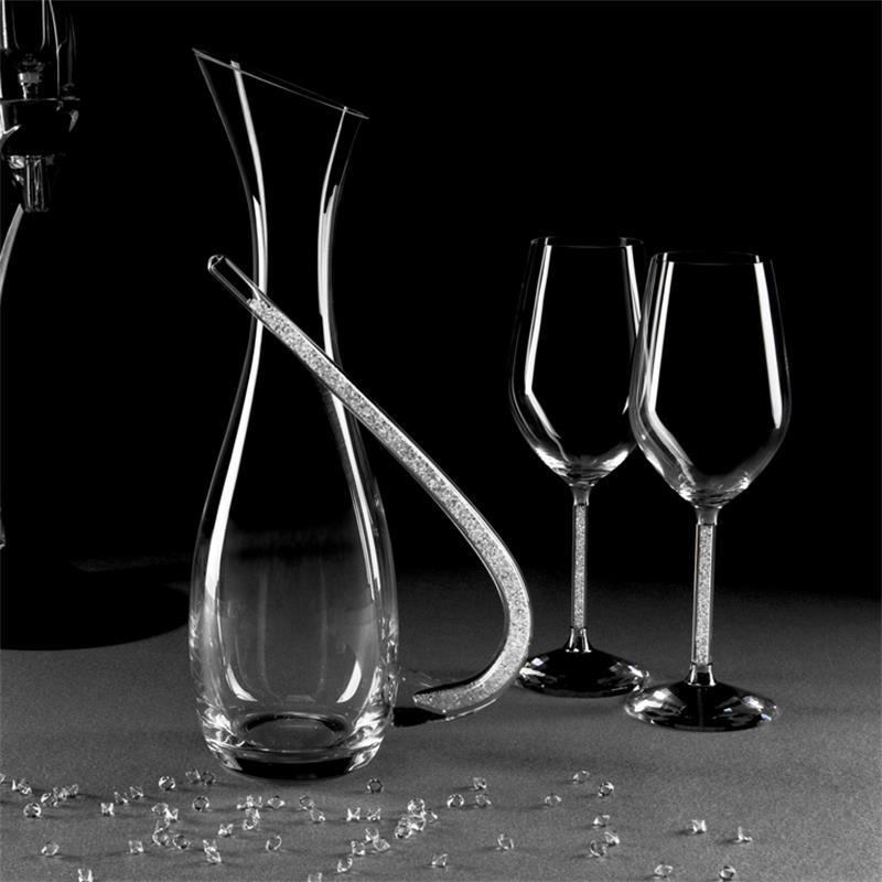 Decantador creativo personalizado, gafas De boda, Cristal cristalino para fiesta, vasos De...