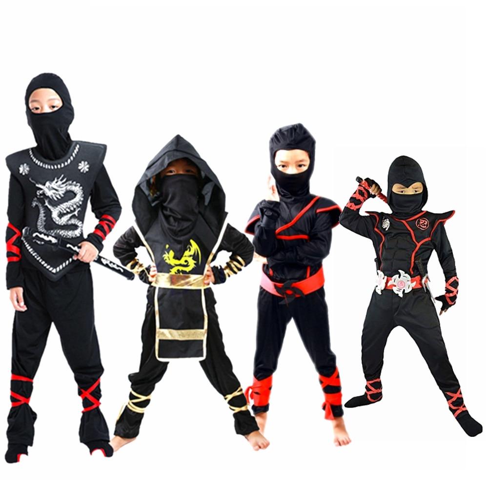 Ninja Costume Ninjago Cosplay Assassin Party костюм ниндзя disfraz de ninja Boys Girls Warrior Stealth Purim Kids Clothes Sets