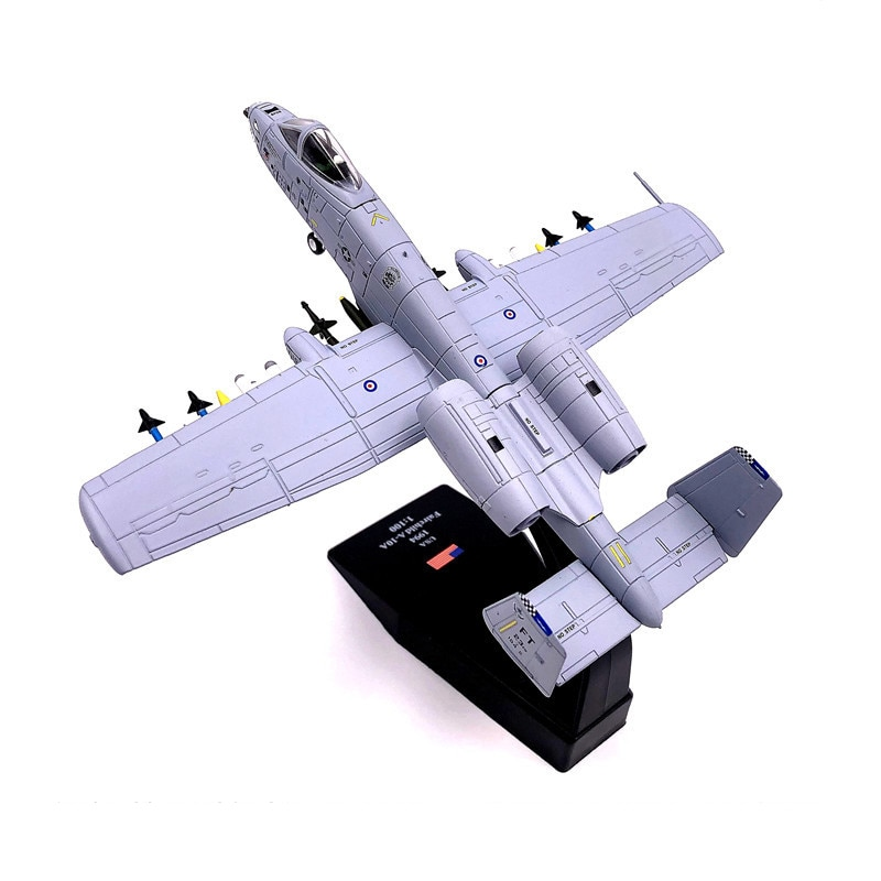 1:100 1/100 Scale US A-10 Thunderbolt II Warthog Hog Attack Plane Fighter Diecast Metal Airplane Aircraft Model Children Boy Toy недорого