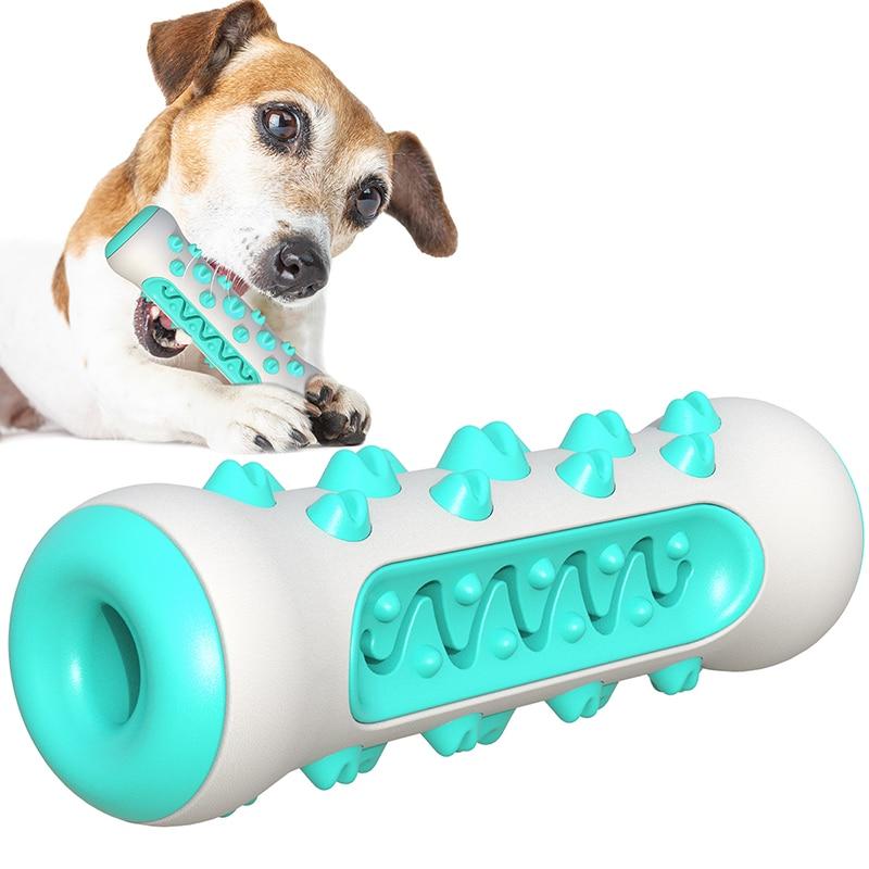 Pet mastigar brinquedos mordedor-resistente vara molar pet cão escova de dentes escova de dentes escova de limpeza de cuidados dentários