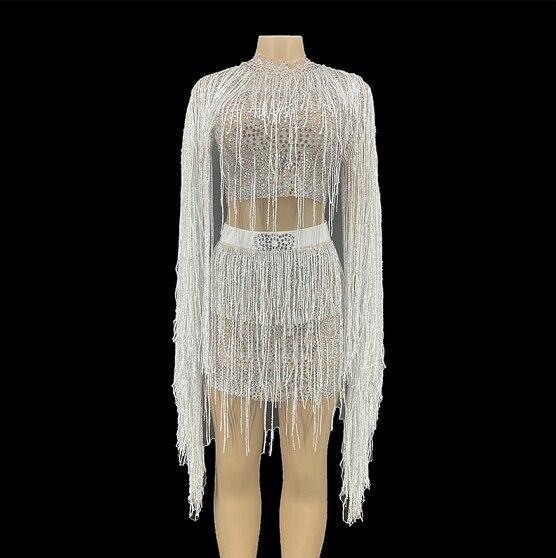 مثير الأحجار شفافة مساء فستان الرقص مساء عارية شبكة فستان طويل أداء المغني الإناث تمتد زي YOUDU