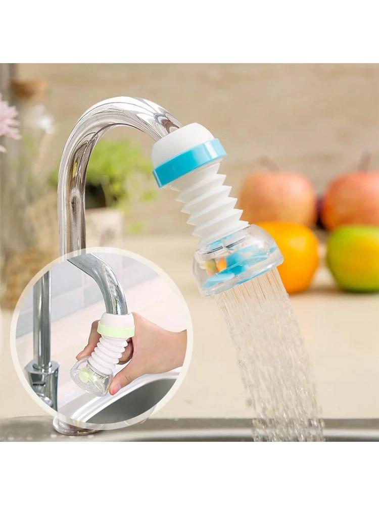 360 Degree Adjustable Faucet Extender Shower Water Tap Gadget  Water Tap Extension Filter  Kitchen Bathroom Accessories