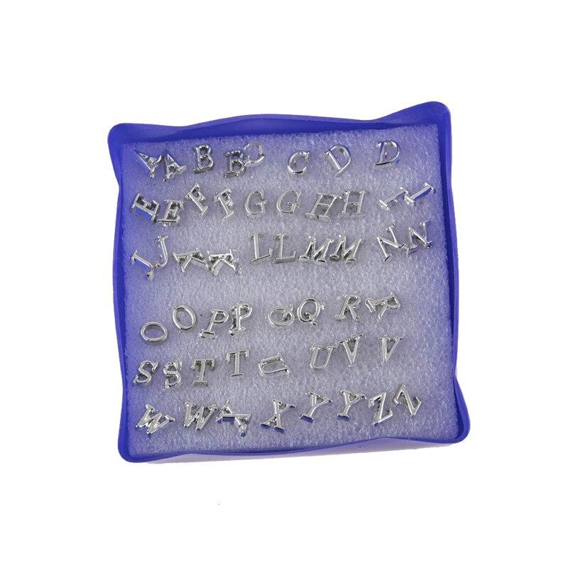 26 par/set Simple inglés letra geométrica Stud pendientes para mujeres niñas coloridos pendientes de plástico accesorios de oreja joyería