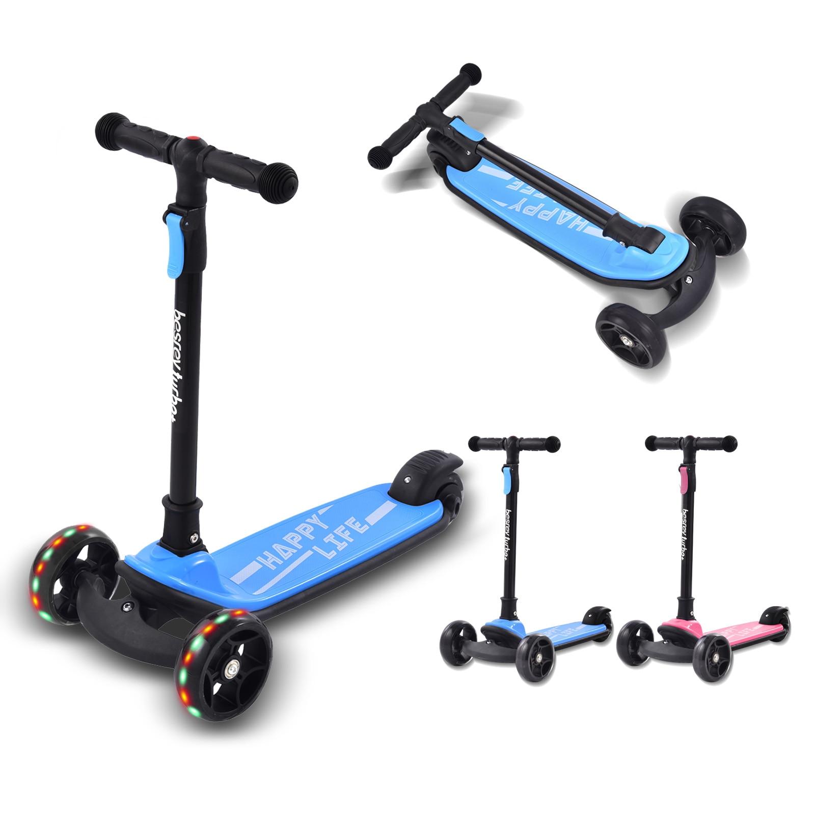 سكوتر للأطفال المحمولة الاطفال دراجة ثلاثية العجلات سيارة التوازن لعبة هدايا للأطفال مناسبة للأطفال من سن 3-8