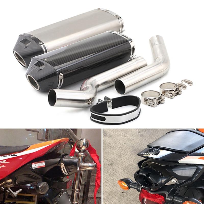 لهوندا F5 CBR600RR 2003-2020 دراجة نارية العادم مجموعة 2 منتصف رابط الأنابيب زلة على 51 مللي متر العادم الأنابيب لا ديسيبل القاتل الهروب