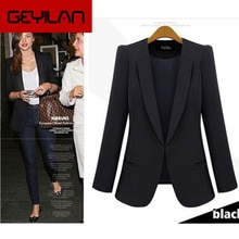 2020 New Spring & Autumn Women Coat Jacket Thin Small Suit Jacket Big Size Black ,blue Slim Casual B