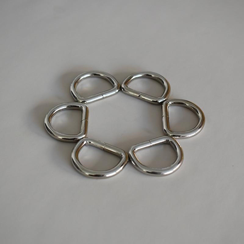 50 unids/lote, anillos D planos de aleación, anillos D de 3/4 pulgadas (20mm), correas de hebilla D, Bolsa duradera, hebilla de conexión, accesorios planos para Collar de perro Diy