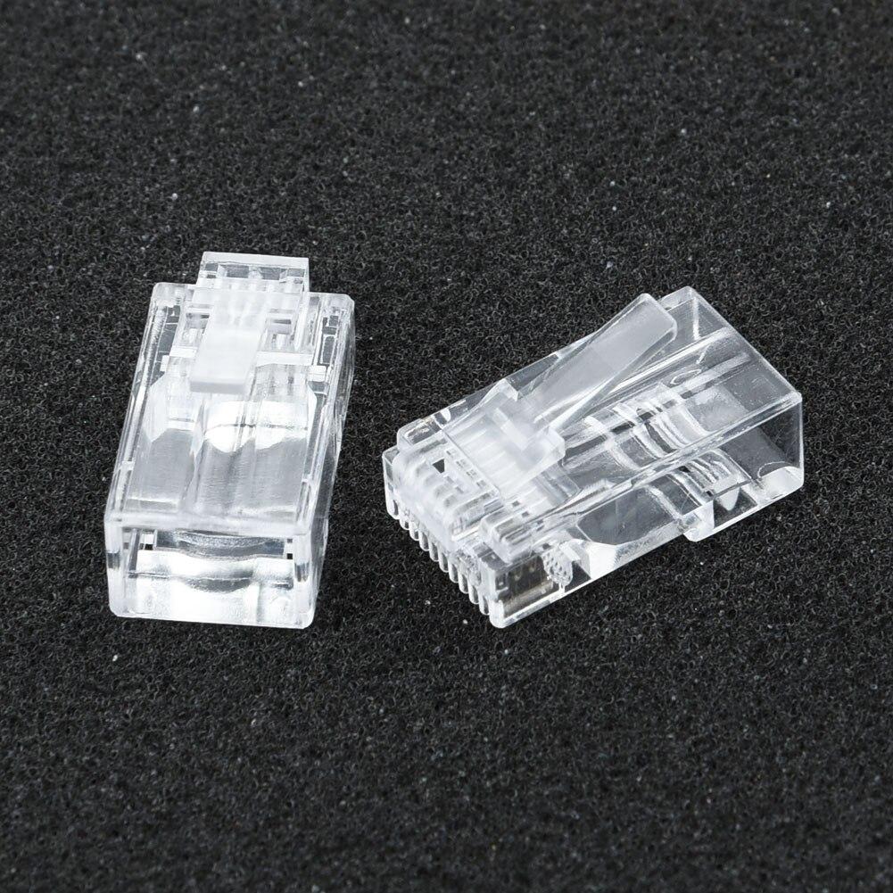 Сетевой кабель категории 6, модульные проходные Разъемы 8P8C, RJ45, Cat5, Cat5e, экранированные, 50 шт.
