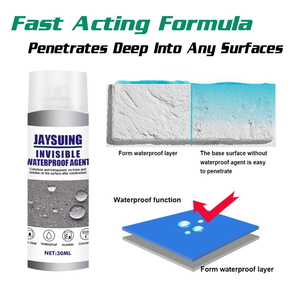 30ml sellador Spray azulejo de baño agente de impermeabilización para techo Reparación de pared Exterior Nano pulverizador transparente pegamento reparación Spray