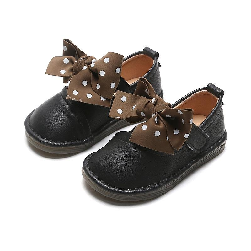 kids shoes 2020 new spring girls fashion genuine leather shoes princess party flats children black mary jane footwear flower Girls Princess Bowknot Shoes Baby Kids Cute Shoes Daughter Non-slip Spring Fashion Dress Party Casual Single Flats Children
