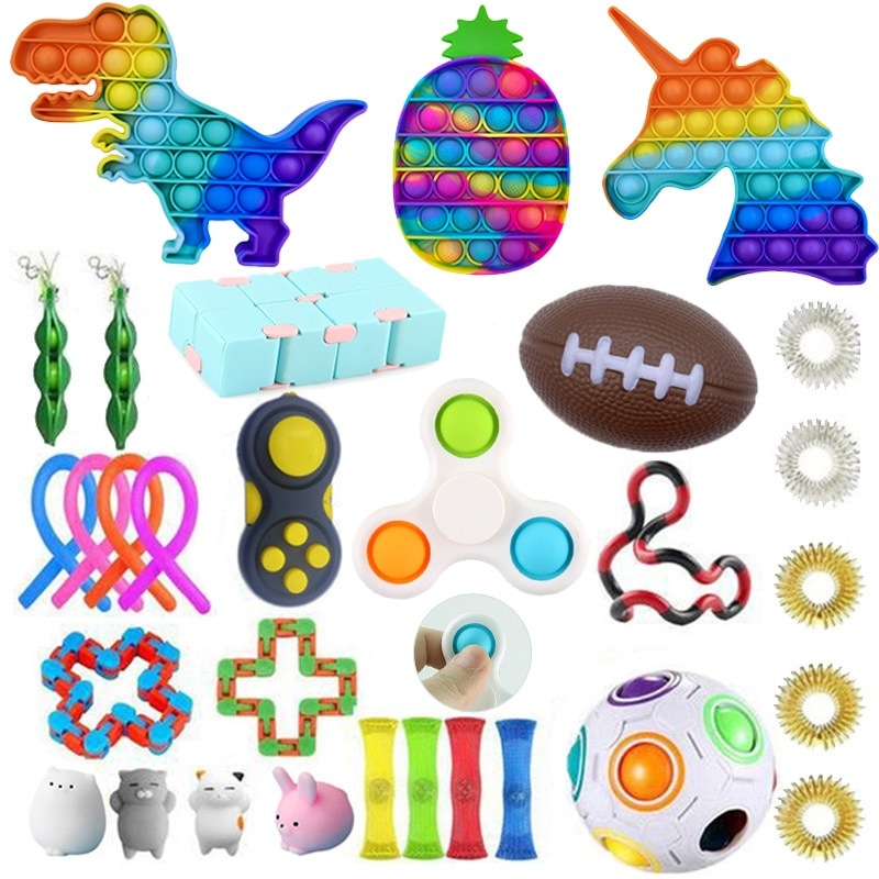 New Fidget Toys 20/21/22PCS Pack Sensory Toy Set Antistress Relief Autism Anxiety Anti Stress Bubble for Kids Adults enlarge