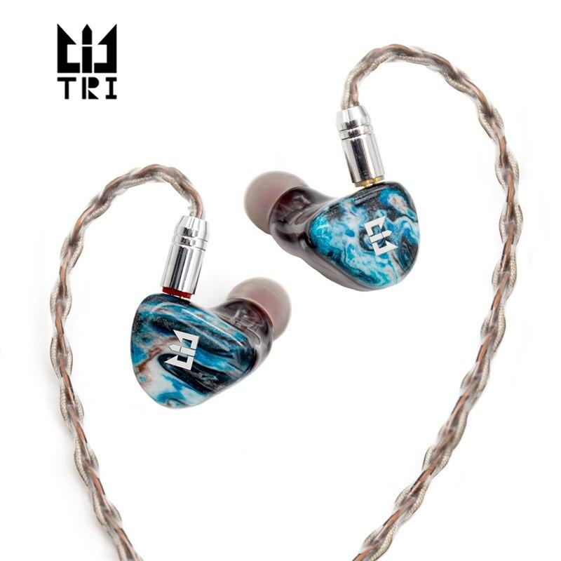 سماعات أذن من TRI Starshine مزودة بـ 2 محرك كهرباء + 2BA وحدات هاي فاي مزودة بتقنية مراقبة الاستوديو سماعات أذن قابلة للفصل مزودة بكابل